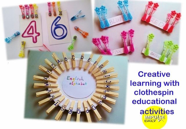 creative learning and playtime with clothespin educational